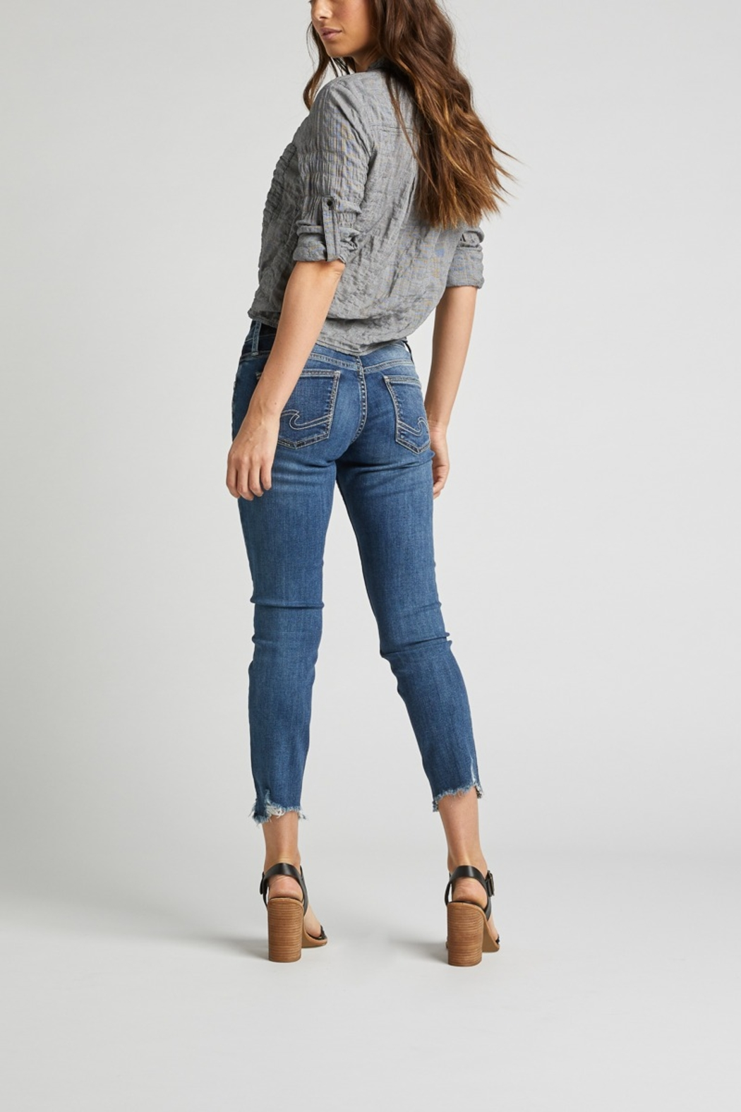 Silver Jeans Co. Silver Jeans cropped boyfriend - Front Full Image