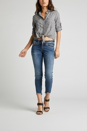 Silver Jeans Co. Silver Jeans cropped boyfriend - Front cropped