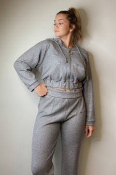 LA PATEAU Silver Jogger Set - Alternate List Image