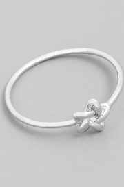 Runway & Rose Silver Knot Ring - Front cropped