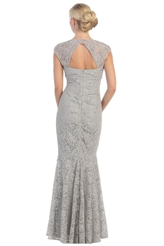 May Queen  Silver Lace Long Dress - Alternate List Image