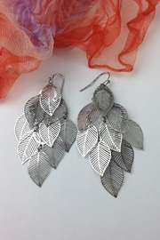 GHome2 Silver Leaf Earrings - Product Mini Image