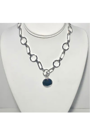 Maison A Silver Link Necklace w/ Stone - Product Mini Image