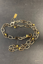 debe dohrer design Silver links with brass mix and brass beads - Product Mini Image
