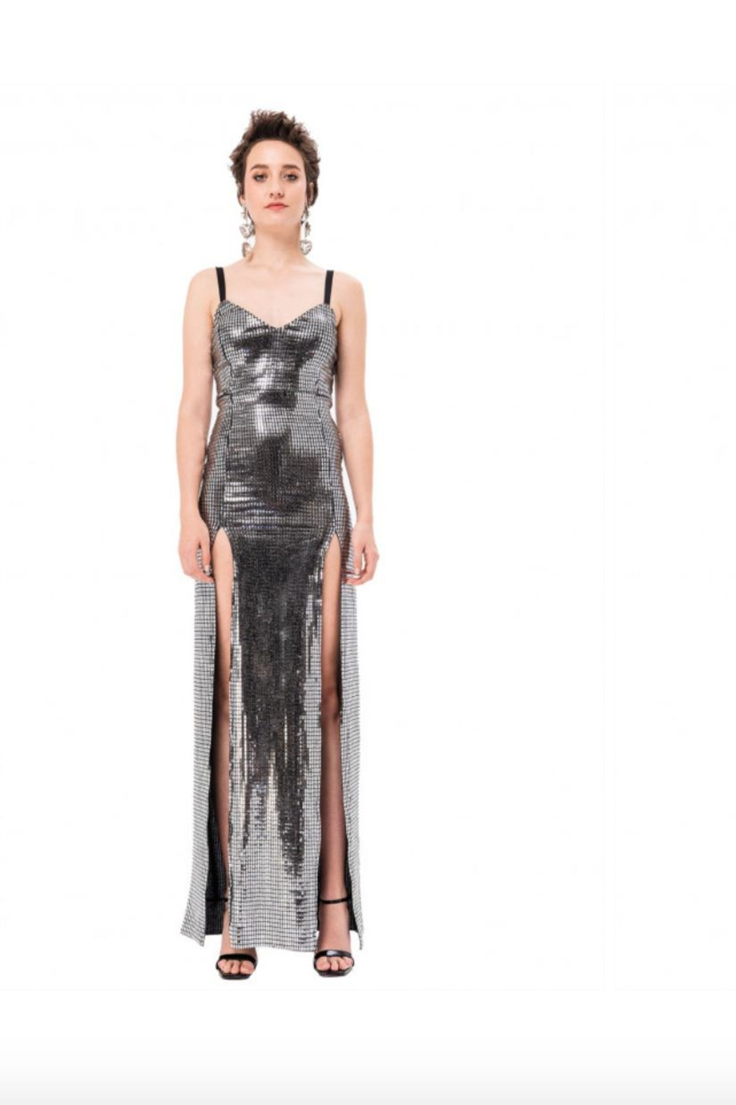 Kikiriki Silver Maxi Dress - Main Image