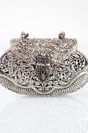 Fashion Pickle Silver Metal Clutch - Product Mini Image