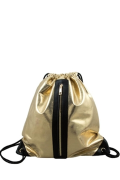 Shoptiques Product: Silver Metallic Backpack