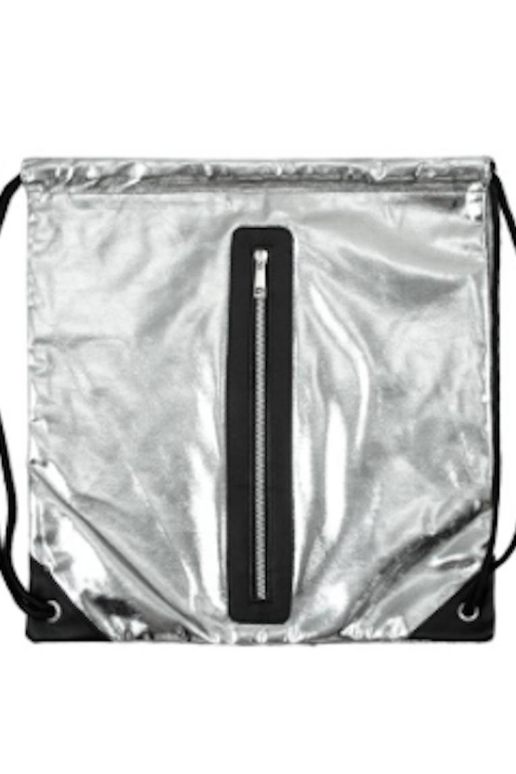 TIMELESS Silver Metallic Backpack - Side Cropped Image
