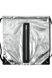 TIMELESS Silver Metallic Backpack - Side cropped