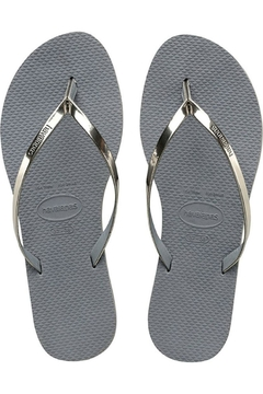 Havaianas Silver Metallic Flipflops - Product List Image