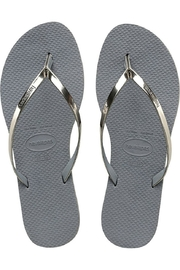 Havaianas Silver Metallic Flipflops - Product Mini Image