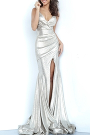 Jovani Silver Metallic Gown - Product Mini Image