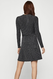BCBG MAXAZRIA Silver Metallic Sweater Wrap Dress - Side cropped