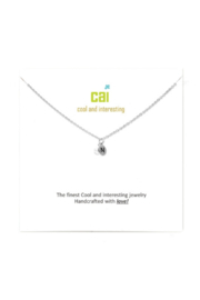 Cool and Interesting Silver mini initial & pearl necklace - Front cropped