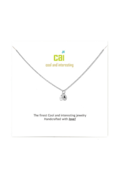 Cool and Interesting Silver mini initial & pearl necklace - Alternate List Image