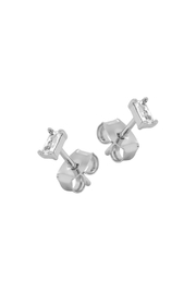 Something Silver Silver Minimal Baguette Studs - Product Mini Image