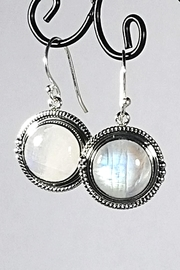 Italian Ice Silver Moonstone Earrings - Front cropped