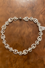 tesoro  Silver Multi Pearl Necklace - Front cropped