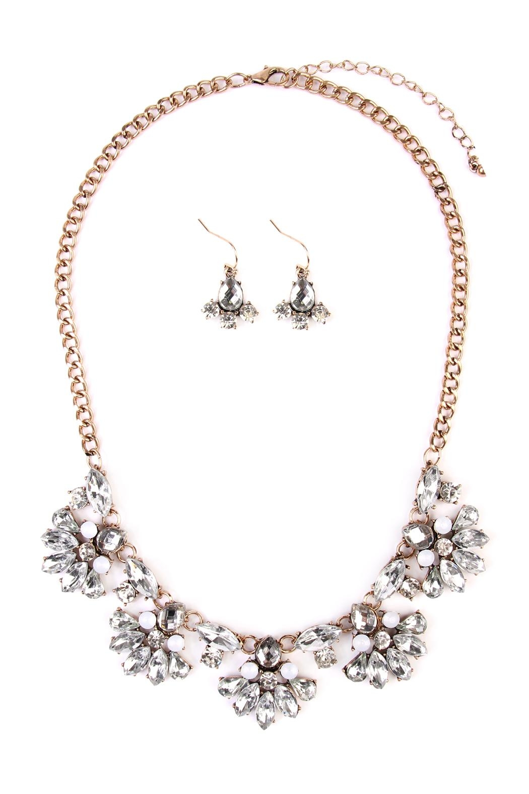 Riah Fashion Silver Necklace & Earring - Main Image