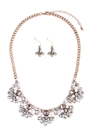 Riah Fashion Silver Necklace & Earring - Product Mini Image