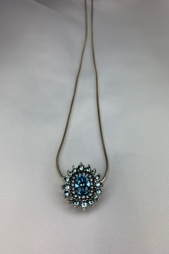 deannas Silver Necklace with Blue Topaz Starburst Pendant - Alternate List Image