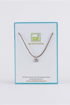 Cool and Interesting Silver Om Cord Necklace - Alternate List Image