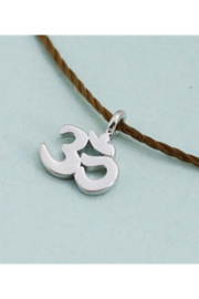 Cool & Interesting Silver Om Cord Necklace - Product Mini Image
