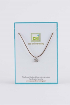 Cool & Interesting Silver Om Cord Necklace - Alternate List Image