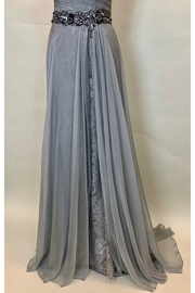 Mac Duggal SILVER OS PLEATED BODICE DRESS - Side cropped