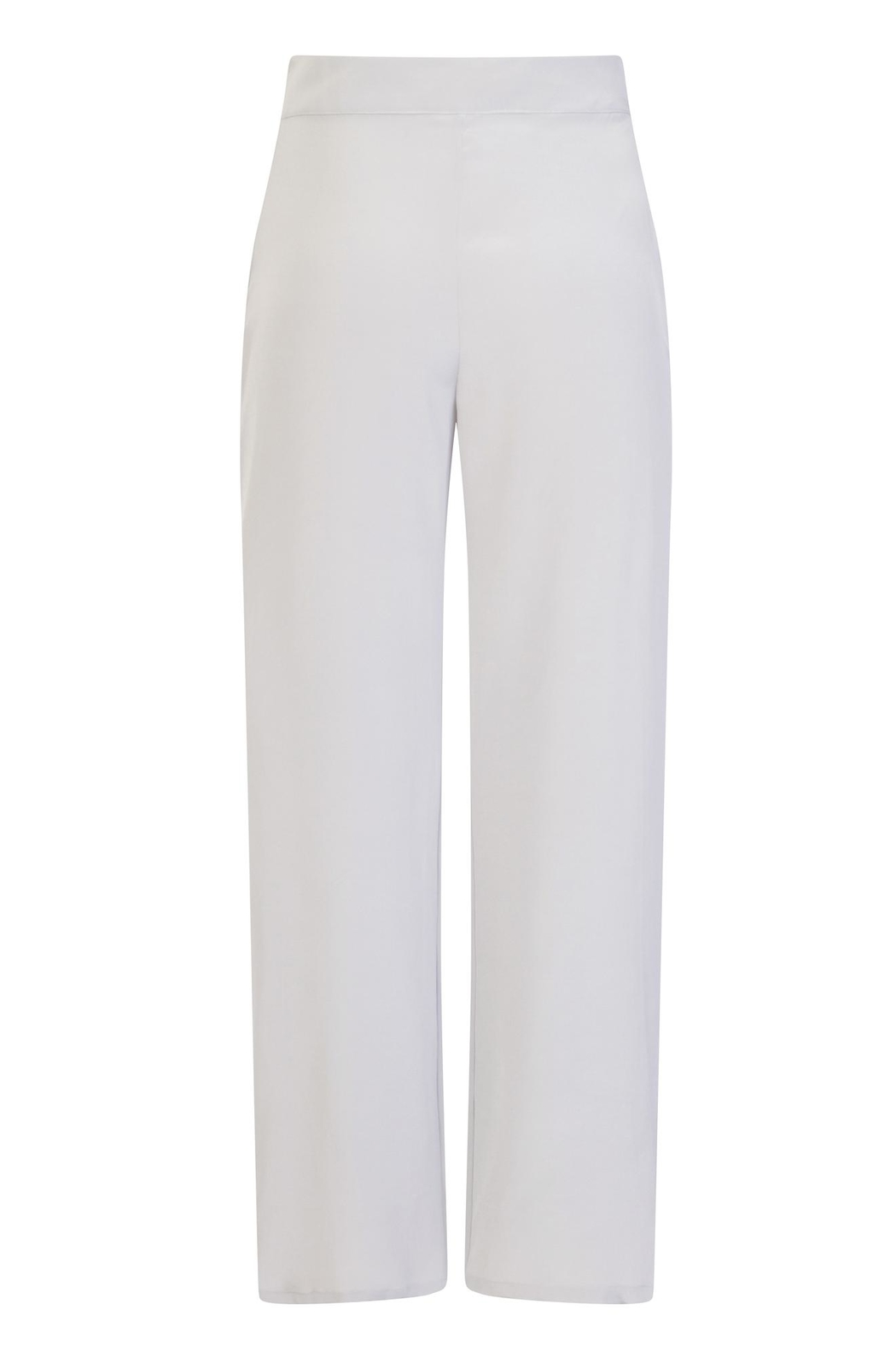 Sophie Cameron Davies Silver Palazzo Trouser - Side Cropped Image