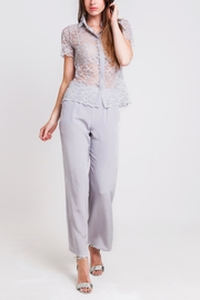 Sophie Cameron Davies Silver Palazzo Trouser - Product Mini Image