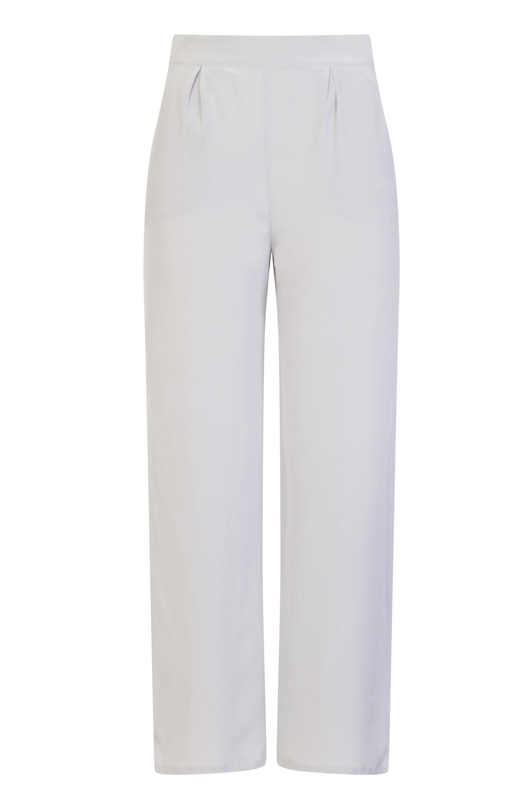 Sophie Cameron Davies Silver Palazzo Trouser - Front Full Image