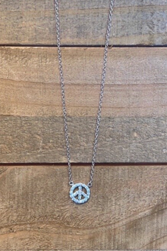 Allie & Chica Silver Peace Necklace - Alternate List Image