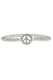 Jaimie Nicole Silver Peace-Sign Bracelet - Product Mini Image
