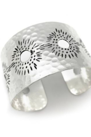 Anju Handcrafted Artisan Jewelry SILVER PLATED CUFF - Front cropped