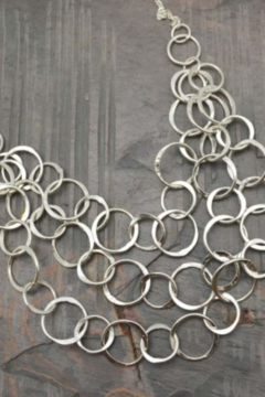 Anju SILVER PLATED NECKLACE CIRCLES - Alternate List Image