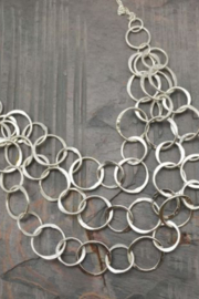 Anju SILVER PLATED NECKLACE CIRCLES - Product Mini Image