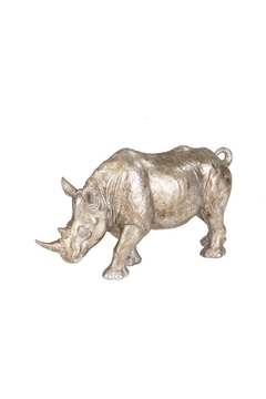 Sagebrook Home Silver Resin Rhino - Alternate List Image