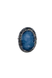 Ananda Chicago  Silver Ring - Front full body