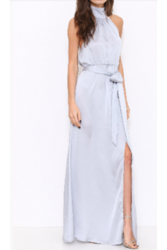 L'atiste Silver Satin Gown - Product List Image