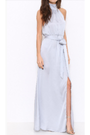 L'atiste Silver Satin Gown - Product Mini Image