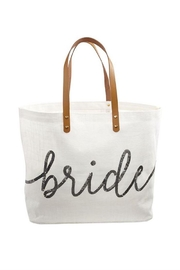 Mud Pie Gift Silver-Sequin Bride Tote - Product Mini Image