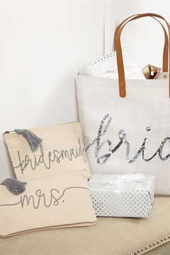Mud Pie Gift Silver-Sequin Bride Tote - Alternate List Image