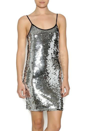 Shoptiques Product: Silver Sequin Dress - main