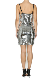 Shoptiques Product: Silver Sequin Dress - Side cropped