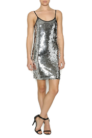 Shoptiques Product: Silver Sequin Dress - Front full body