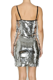 Shoptiques Product: Silver Sequin Dress - Back cropped