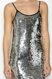 Shoptiques Product: Silver Sequin Dress - Other