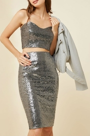 Hayden Los Angeles Silver Sequin Skirt - Product Mini Image