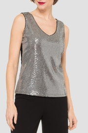 Joseph Ribkoff Silver Sequin Top - Product Mini Image